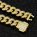 12mm Iced Cuban Bracelet in 14K Yellow Gold 7