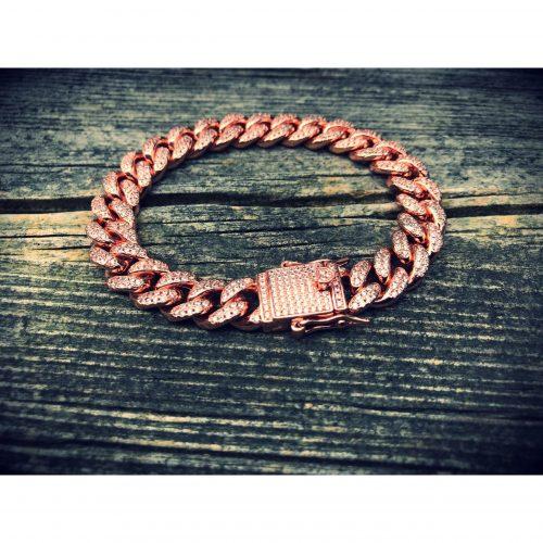 10mm rose gold iced cuban link bracelet harlex gold 6 scaled