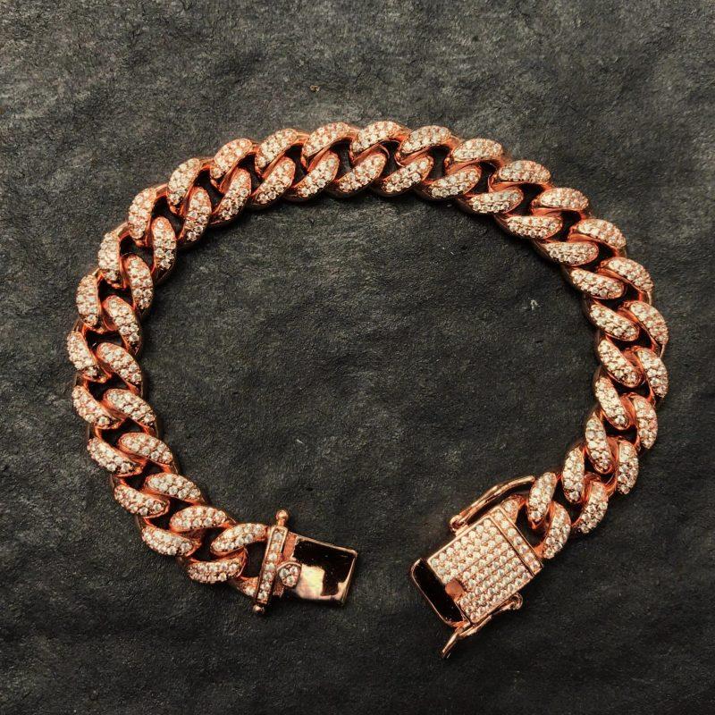 10mm rose gold iced cuban link bracelet harlex gold scaled