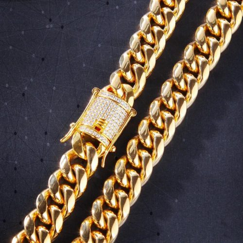 12mm 14K Gold Miami Cuban Curb Chain-Harlex-Harlex