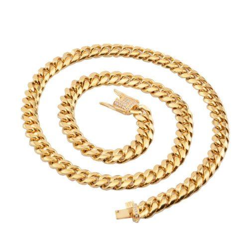 12mm 14K Gold Miami Cuban Curb Chain-Harlex-Harlex