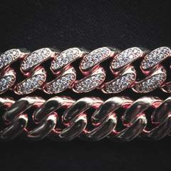 Diamond Cuban Chain - Rose Gold (12mm) 3