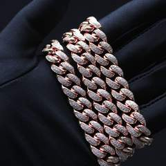 Diamond Cuban Chain - Rose Gold (12mm) 7