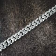 Diamond Cuban Link Choker (10mm) in 14k White Gold 6