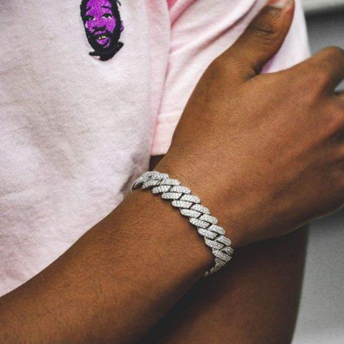 12mm diamond prong cuban bracelet white gold 6ix ice 6 851