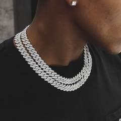 12mm diamond prong cuban chain white gold 6ix ice 6 176 medium