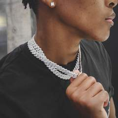 12mm diamond prong cuban chain white gold 6ix ice 6 985 medium