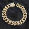 12mm iced cuban bracelet in 18k yellow gold