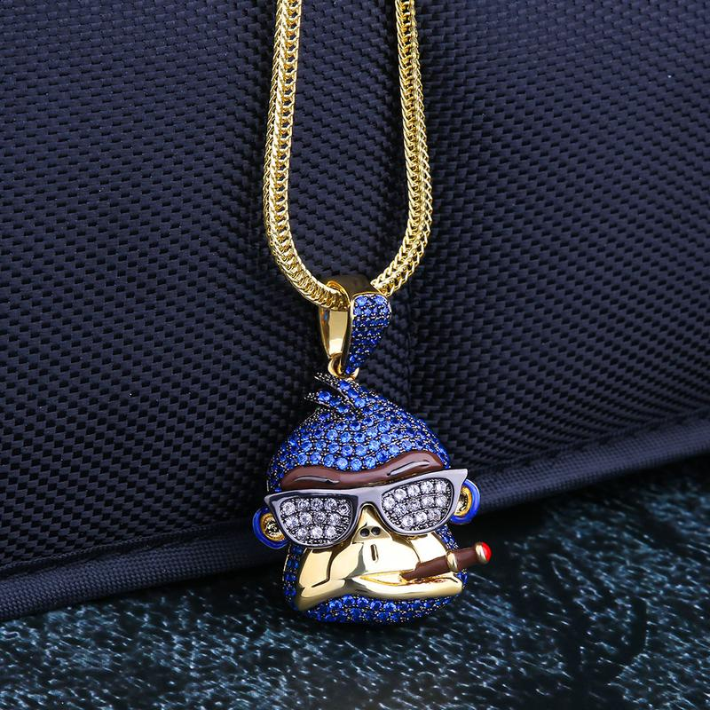14K Gold Iced Ape Pendant [MADE TO ORDER] 1