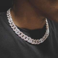 2 tone gucci cuban diamond chain rose white gold 6 ice 587 medium