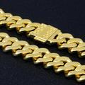 12mm Iced Cuban Bracelet in 18K Yellow Gold 5