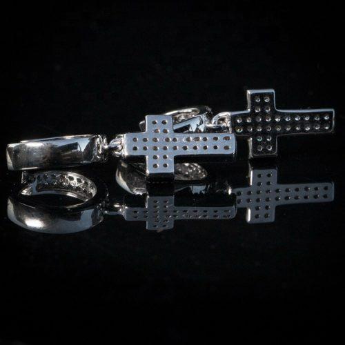 Cross Dangle Iced Out CZ 925 harlex gold 4