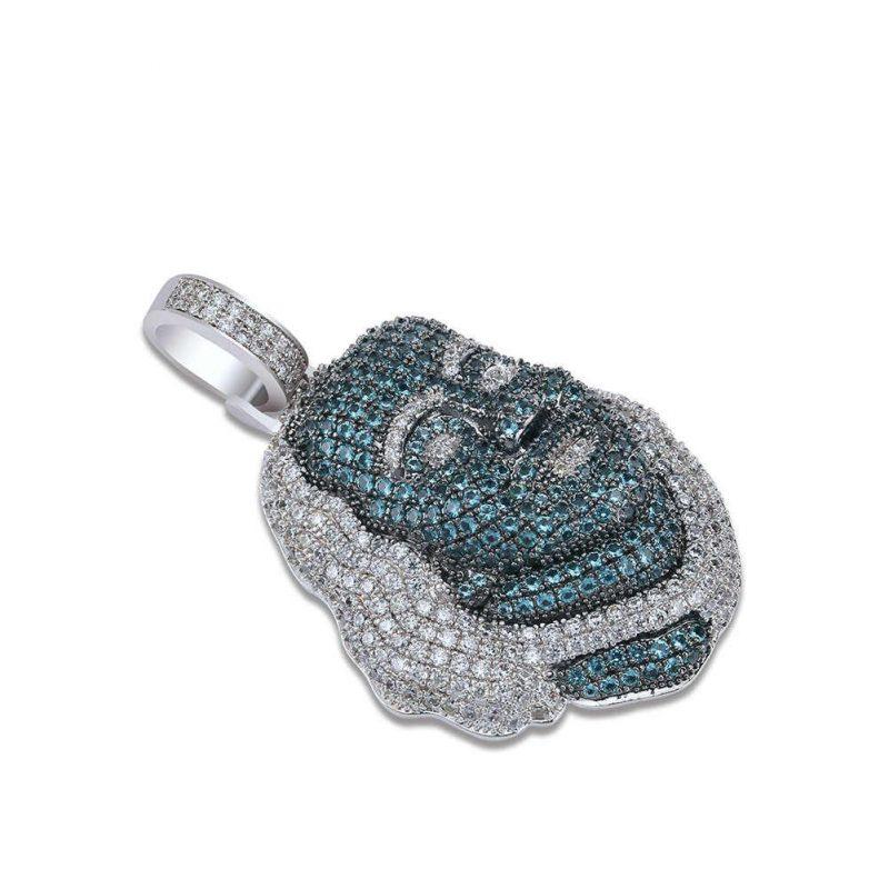 JINAO New ICED OUT Franklin Famous figure Pendant Necklace Cubic zircon Stones Hip Hop Men Women.jpg q50 3