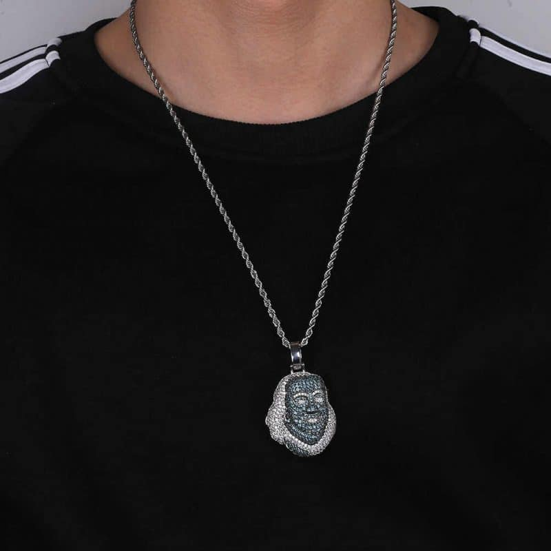JINAO New ICED OUT Franklin Famous figure Pendant Necklace Cubic zircon Stones Hip Hop Men Women.jpg q50 5