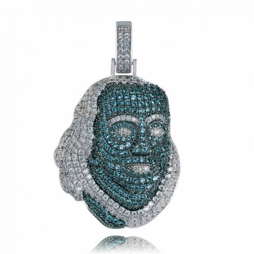 Blueface Inspired Iced Out Franklin Pendant 10