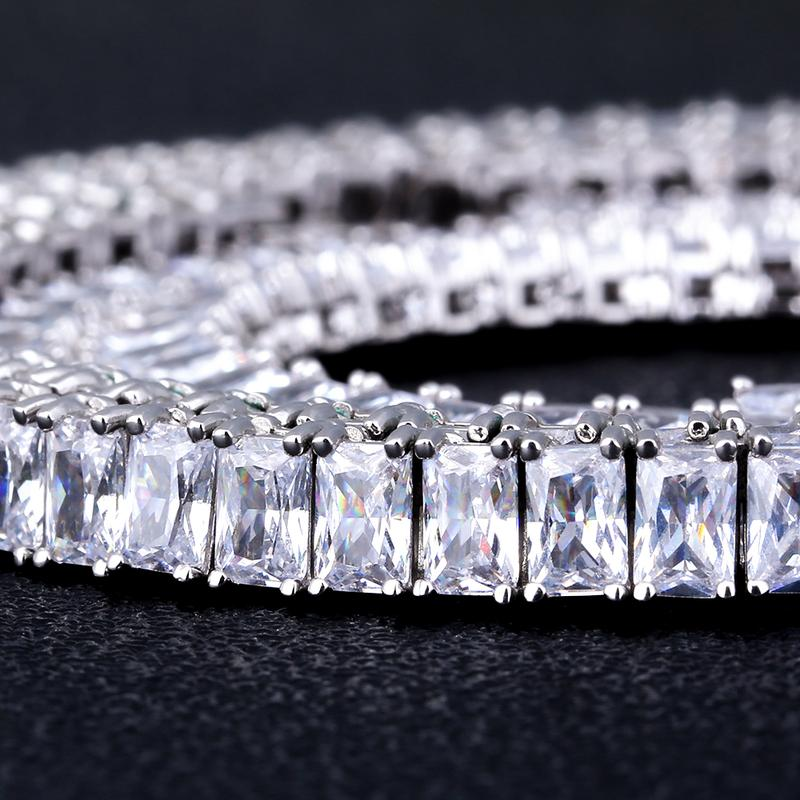 Iced out Baguette Diamond Tennis Chain 2