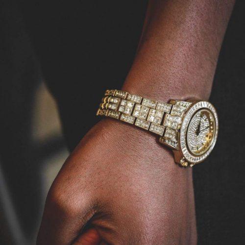 diamond baguette watch 18k gold 6ix ice 6 333