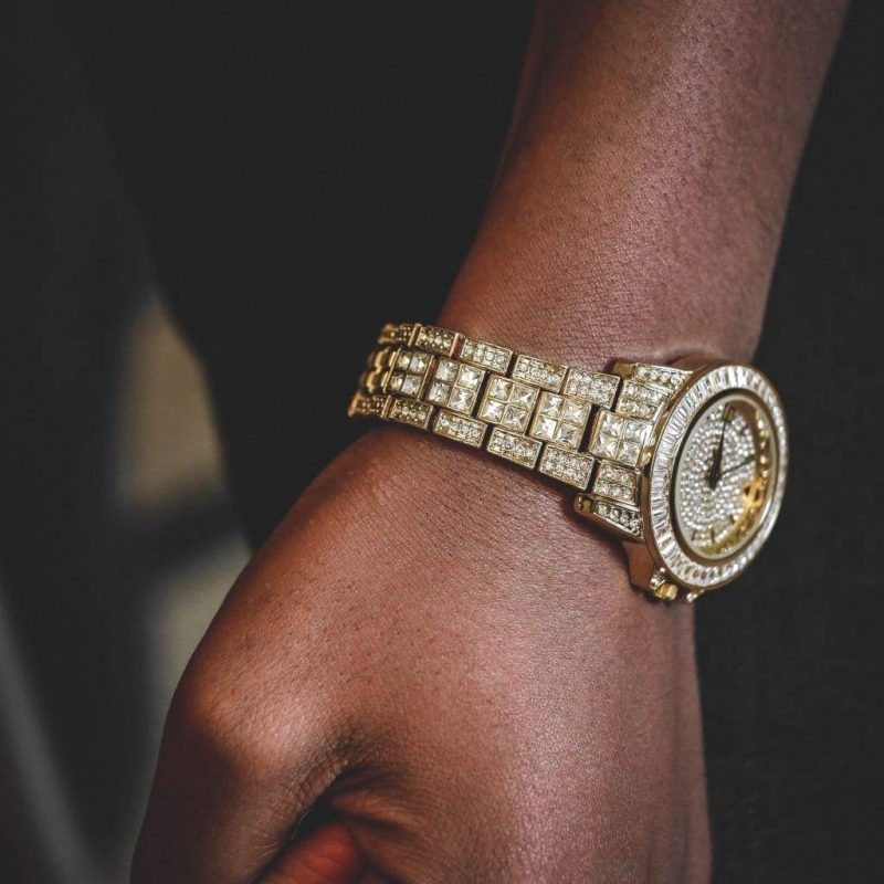 Diamond Bugatti Watch | Gold 1