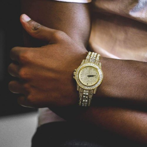 Diamond Bugatti Watch | Gold 4