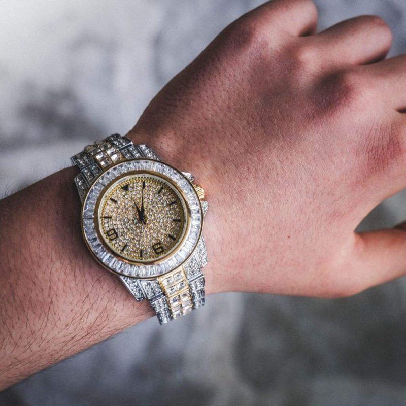 Diamond Bugatti Watch | 2-Tone 1