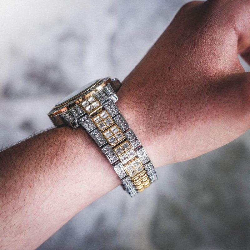 Diamond Bugatti Watch | 2-Tone 3