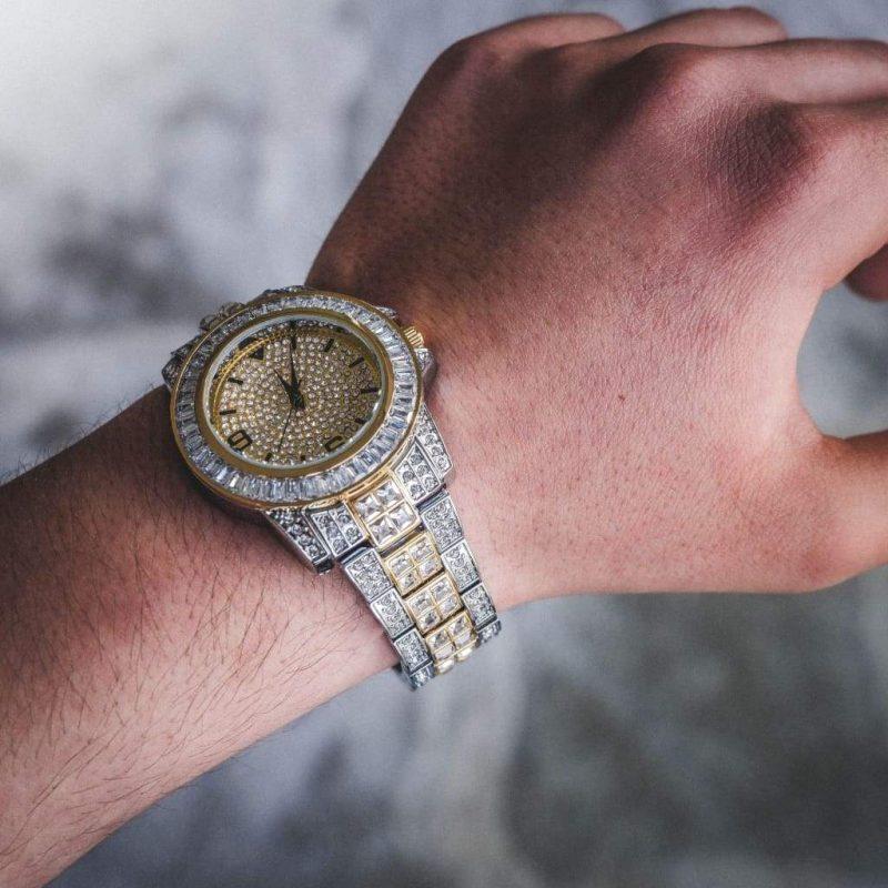 Diamond Bugatti Watch | 2-Tone 2