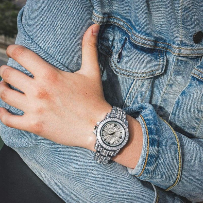 Diamond Bugatti Watch | White Gold 4