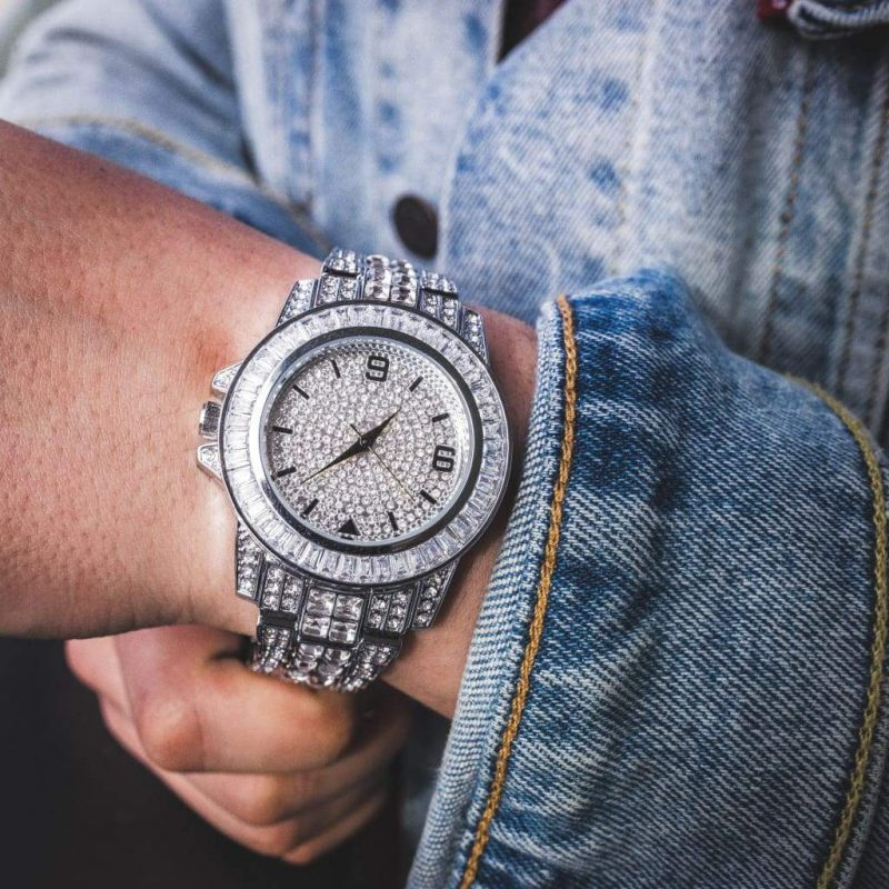 Diamond Bugatti Watch | White Gold 2