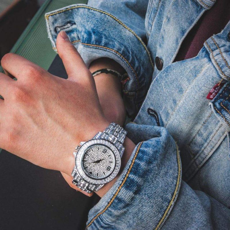 Diamond Bugatti Watch | White Gold 3