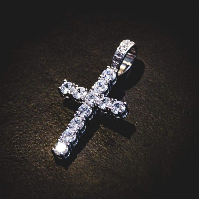 Diamond Cross Necklace 1