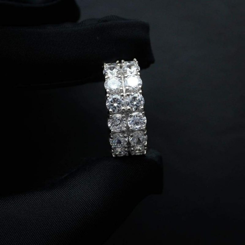 Eternity Prong Setting Tennis Ring 1