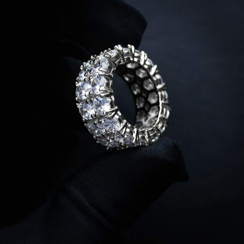Eternity Prong Setting Tennis Ring 2