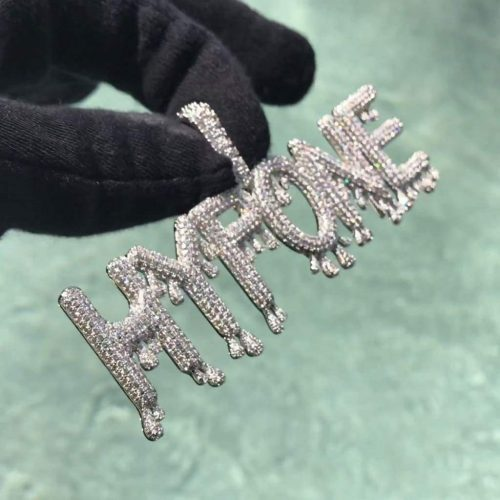 Iced Dripping Custom Pendant 14