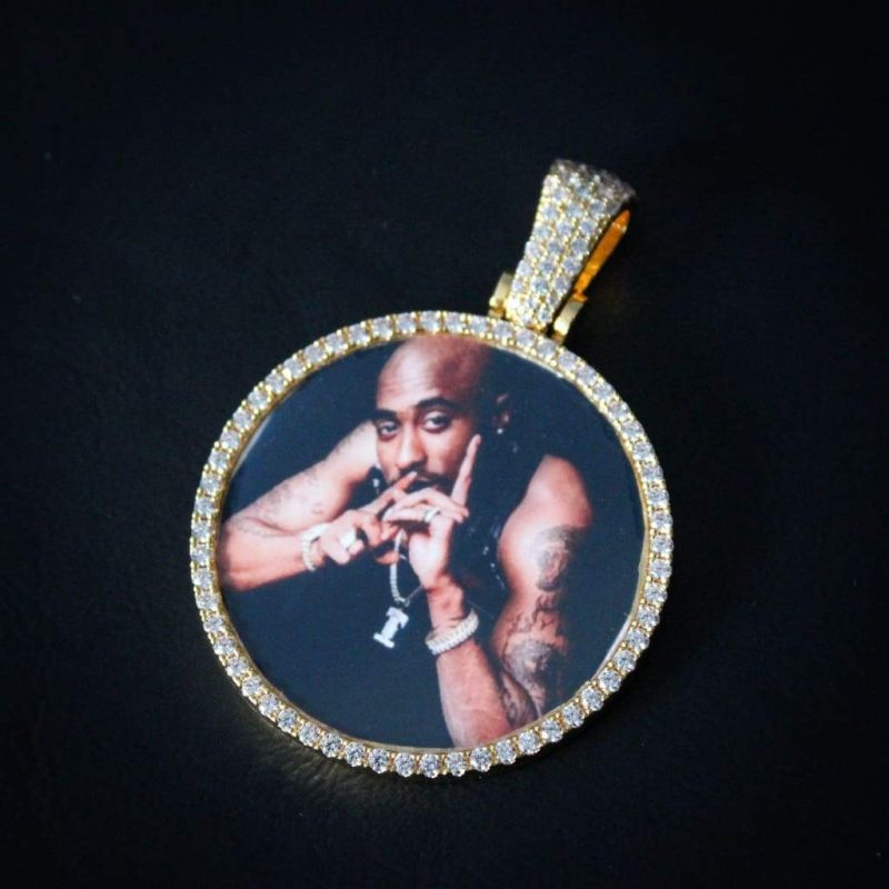Diamond Custom Photo Pendant 1