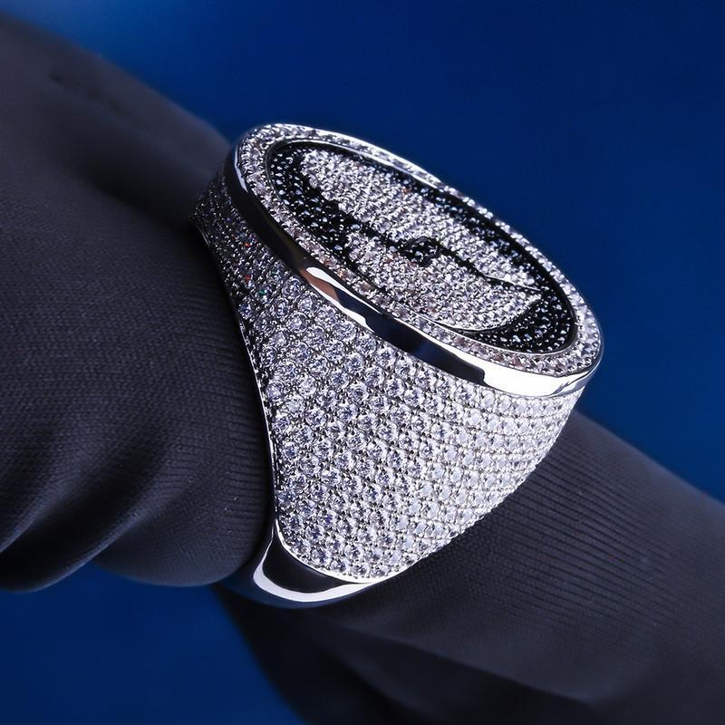 Iced Heart-Broken Ring in White Gold-Harlex-Harlex
