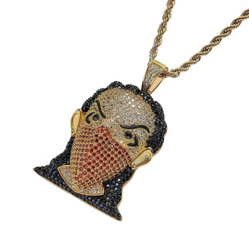 Iced Out Rapper with Mask Pendant-Harlex-Harlex
