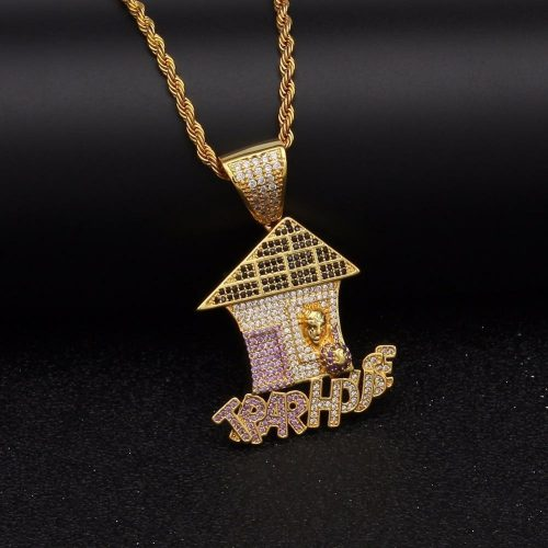 Iced Out Trap House Pendant-Harlex-Harlex