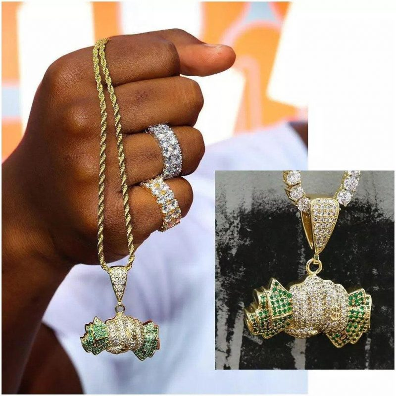 Iced Out Wealth Proof Dollars Pendant [Made To Order]-Harlex-Harlex