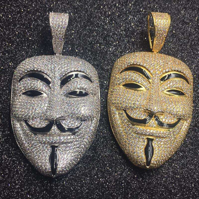 V for Vendetta Inspired Mask Pendant 1