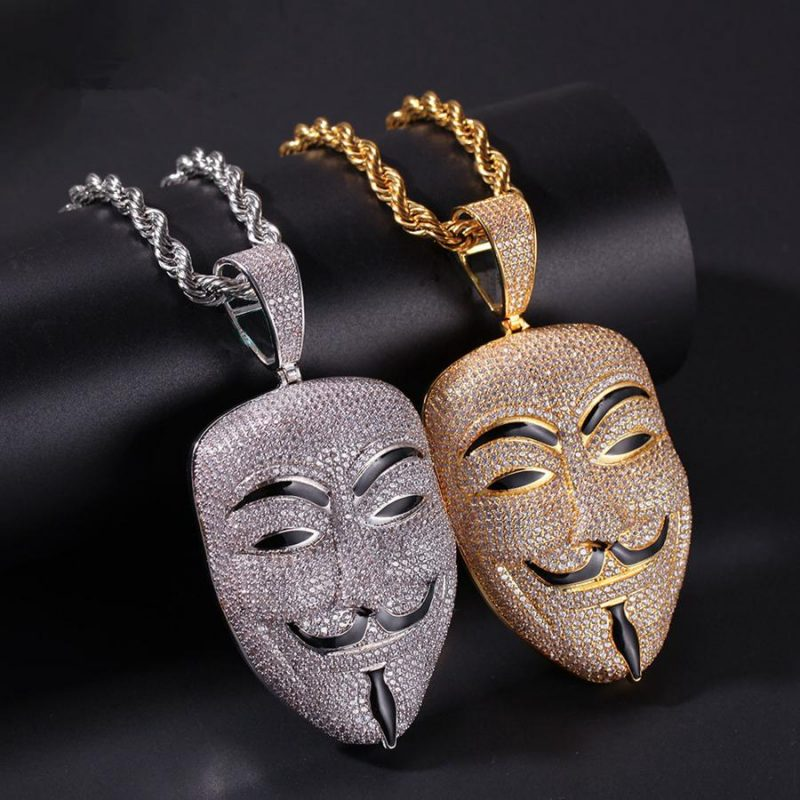 V for Vendetta Inspired Mask Pendant 2