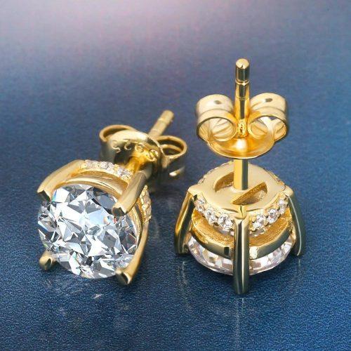 Round Cut Diamond Earrings (Pair)-Harlex-Harlex