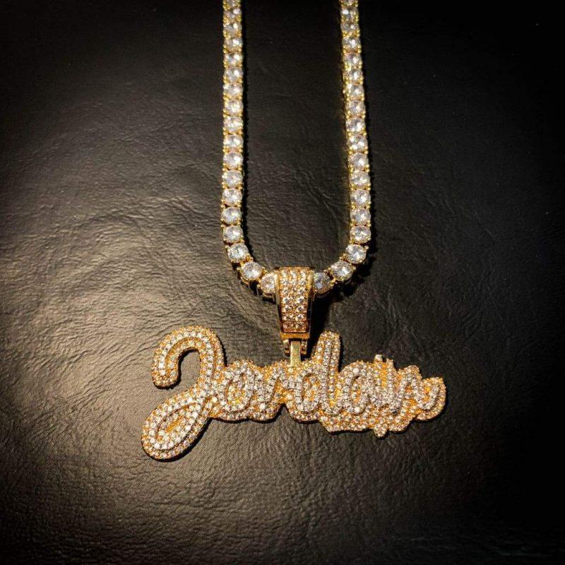 Script Custom Letter Gold Pendant-Harlex-Harlex