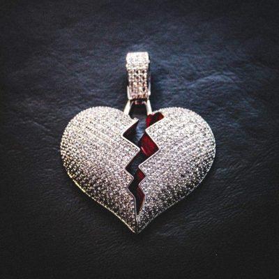 Solid Broken Heart Necklace-Harlex-Harlex