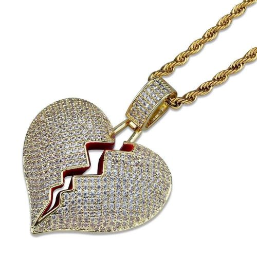 Solid Broken Heart Necklace-Harlex-Harlex