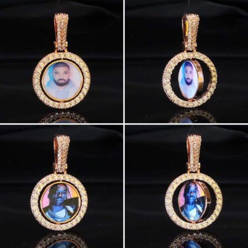 Spinning 2-Faced Custom Picture Pendant-Harlex-Harlex