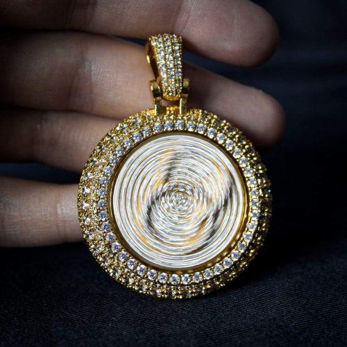 Spinning Diamond QC Custom Necklace 13